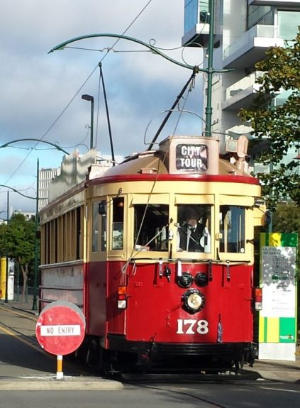 Red of an old Tram