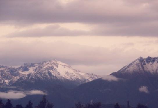 Sunrise over Dunton Ranges