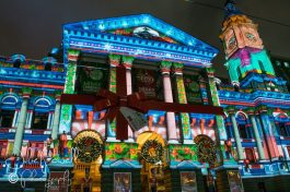 Melbourne Town Hall Xmas Lights