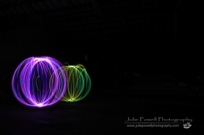 Orb painting with LED