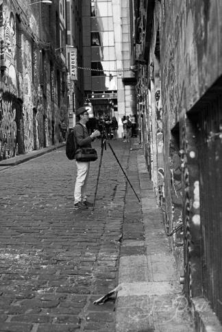 Photographer in Hosier Lane