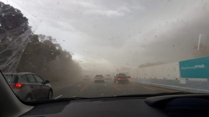 Dust storms as we hit Melbourne