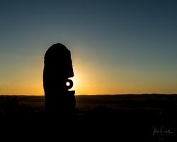 Sunset over Sculptures at Broken Hill Living Desert