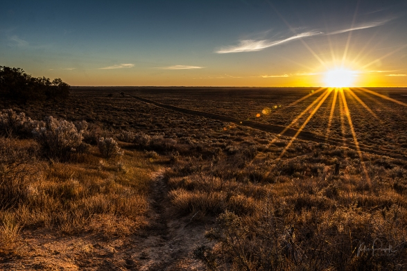 Sunrise over Mungo Plains