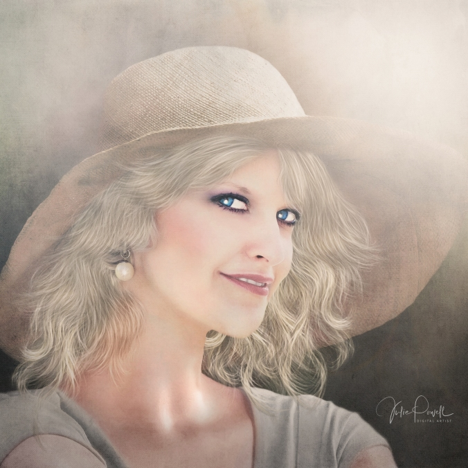 JuliePowell_Lady in the straw hat_2000