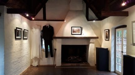 The Tales of Edward Hyde over the fireplace, Bride and Groom costumes on the left