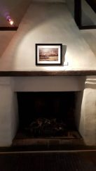 The Tales of Edward Hyde over the fireplace, close up