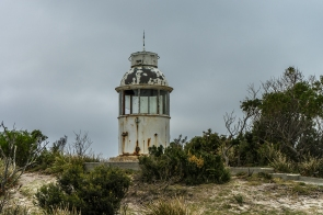 Old Eddystone Point Lighthouse remains